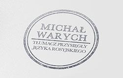 Michał Warych - tłumacz przysięgły